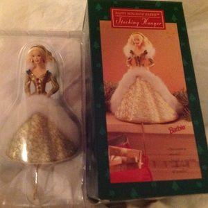 Holiday Barbie Hallmark Stocking Holder New in Box